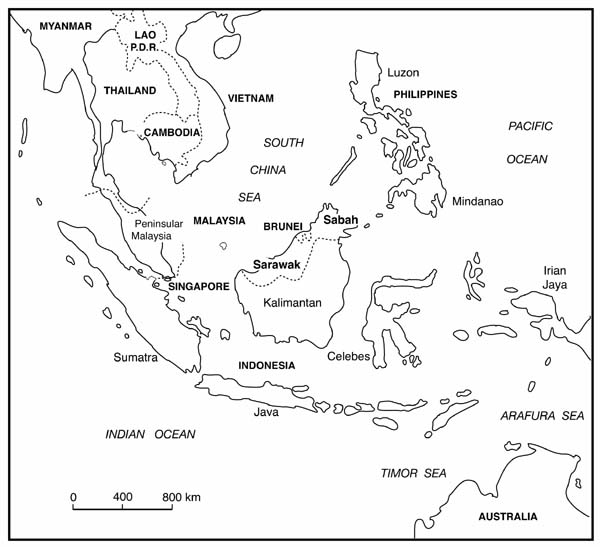 Choco Choco Tatto South East Asia Map Outline
